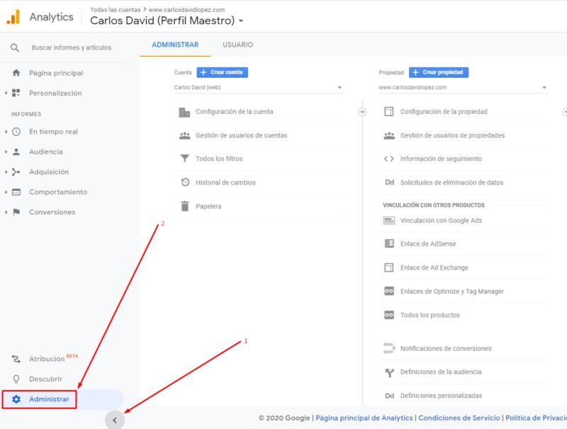 Vincular Google Ads con Google Analytics - Acceso a Analytics
