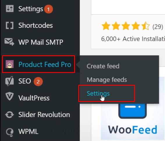 Configuración modulo Shopping WooCommerce