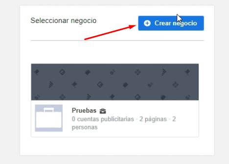 Crear nuevo Business Manager Facebook