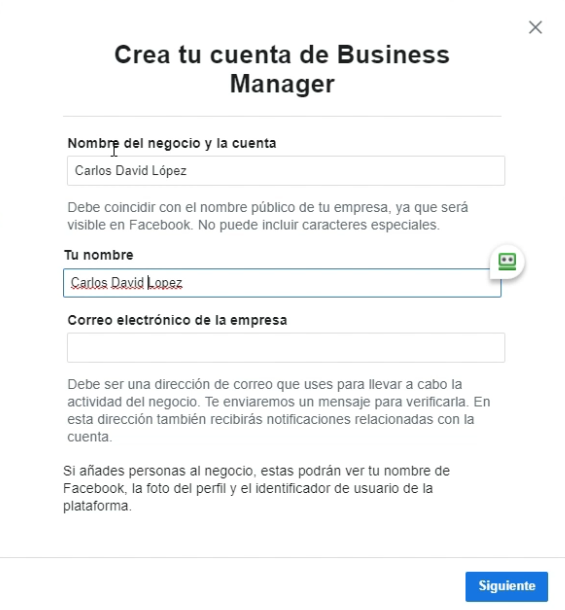 Crear Business Manager Facebook