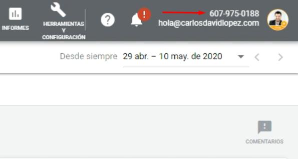 ID cuenta Google Ads