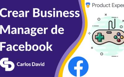 Crear Business Manager de Facebook