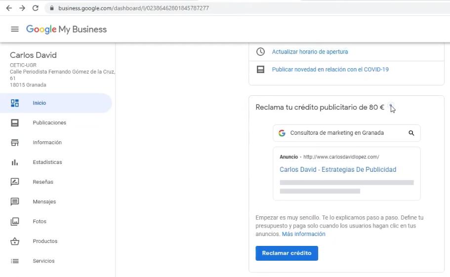 Otras alternativas de conseguir cupones promocionales - Google My Business y Google Ads