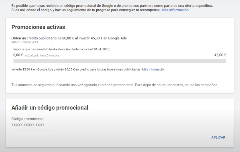 codigo promocional google ads 9 - Código Promocional de Google Ads【2021】