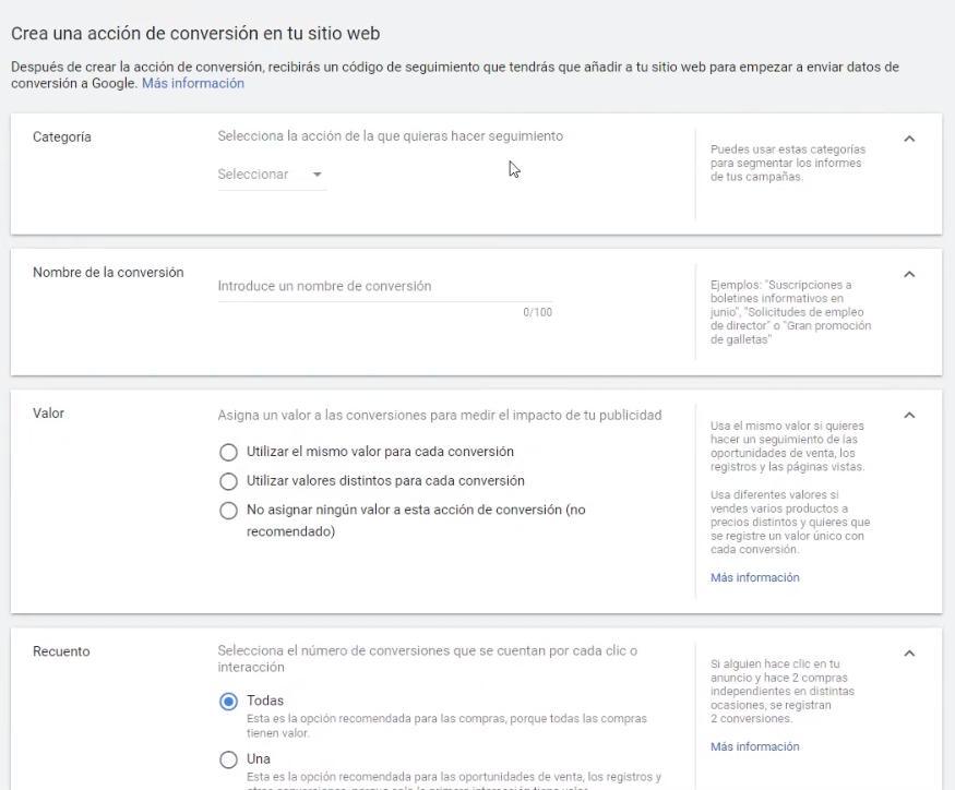 crear conversion google ads 5 - Crear y configurar Conversión en Google Ads