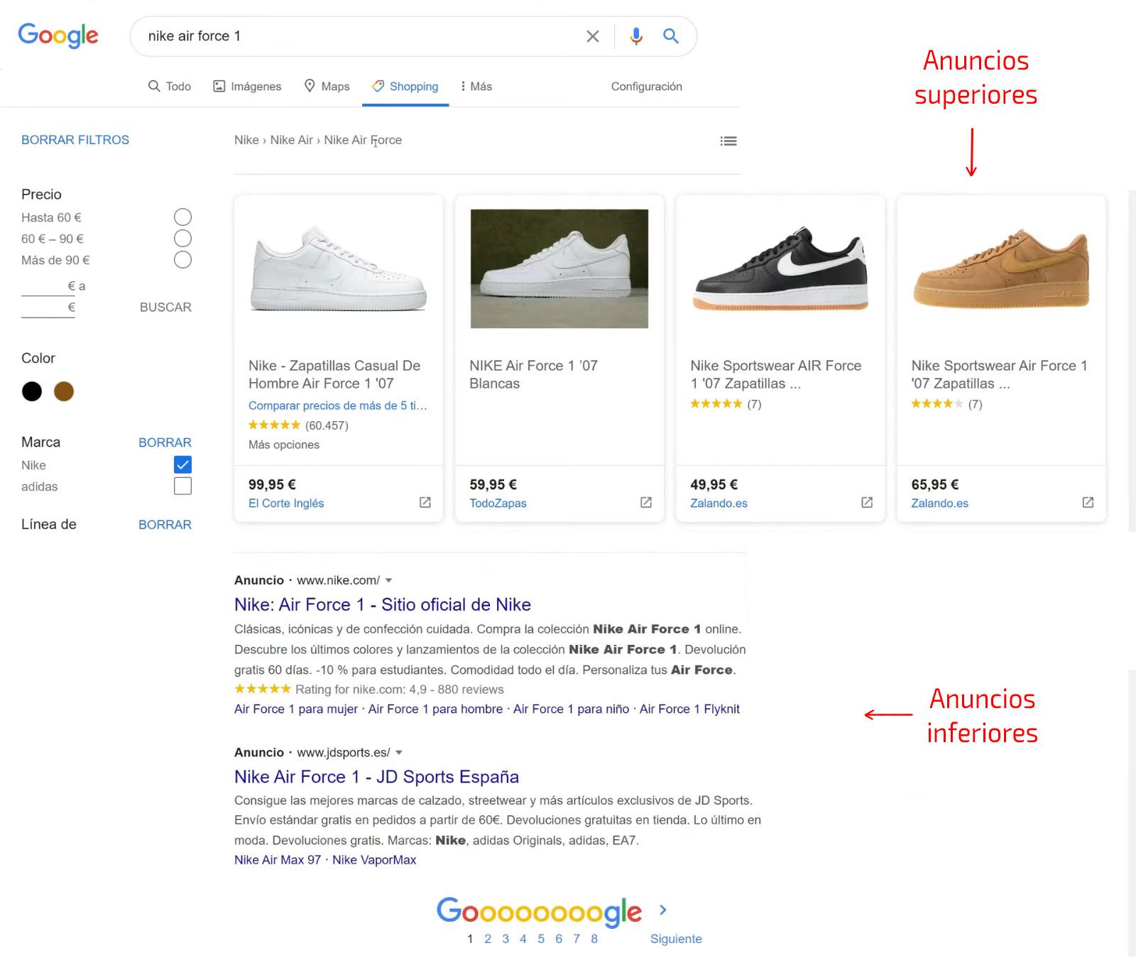 Primeros pasos en la pestaña de Google Shopping