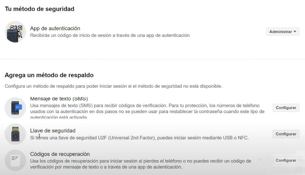 verificacion dos pasos facebook 5 - Autenticación en dos pasos de Facebook - ACTIVAR