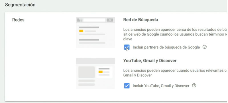Redes Google Shopping Display YouTube