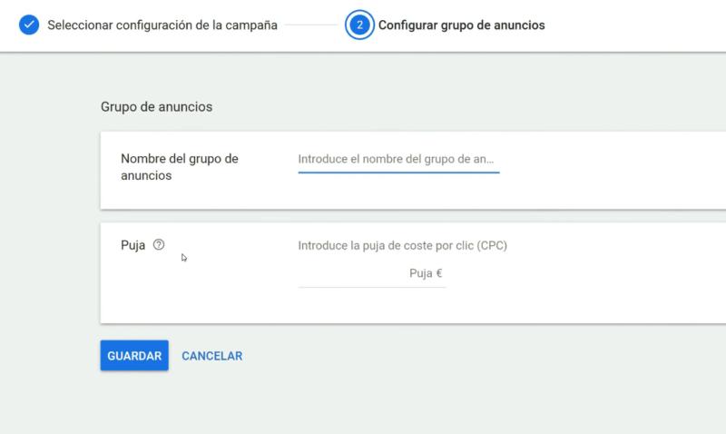 Grupo de anuncios Google Shopping