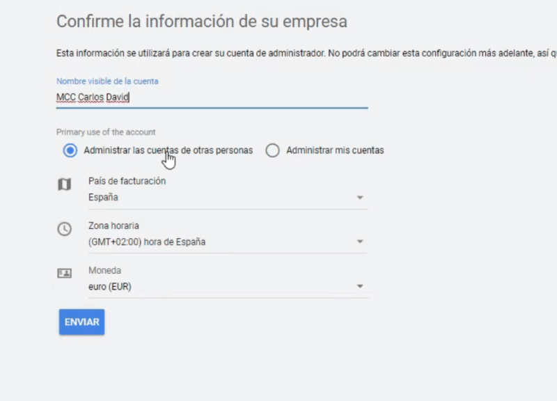 Nombre MCC Google Ads