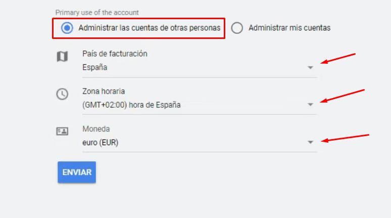 Informacion Cuenta MCC Google Ads