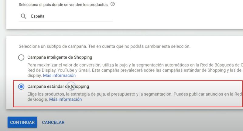 Campaña Estándar Google Shopping vs Shopping Inteligente