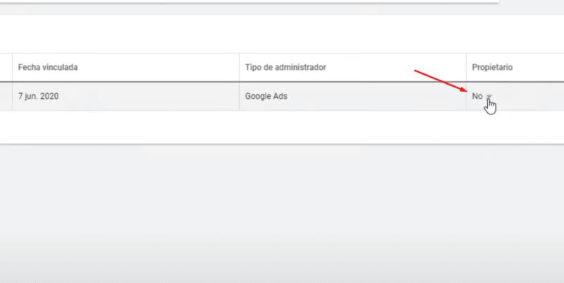 MCC Google Ads propietario