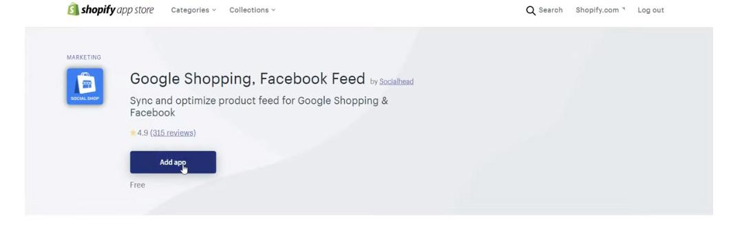 Feed de Shopify - Google Shopping Facebook Feed