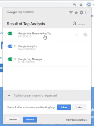 Cómo funciona el Google Tag Assistant