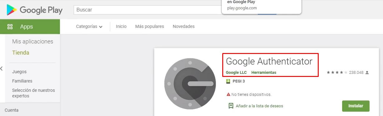 Autenticador Google