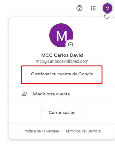 Iniciar sesión en Cuenta Google