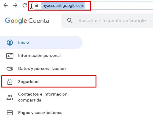 Seguridad cuenta Google