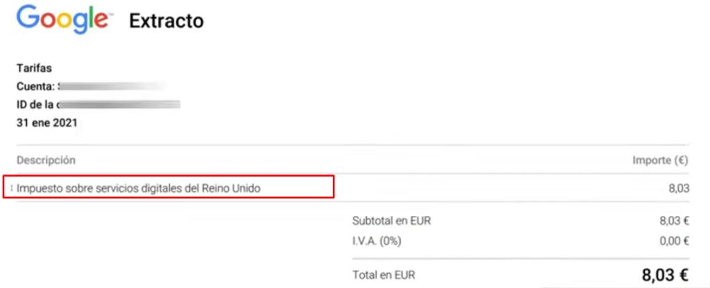 2factura google reino unido - La TASA GOOGLE Ads ha llegado 👉🏼Así vas a PAGARLA