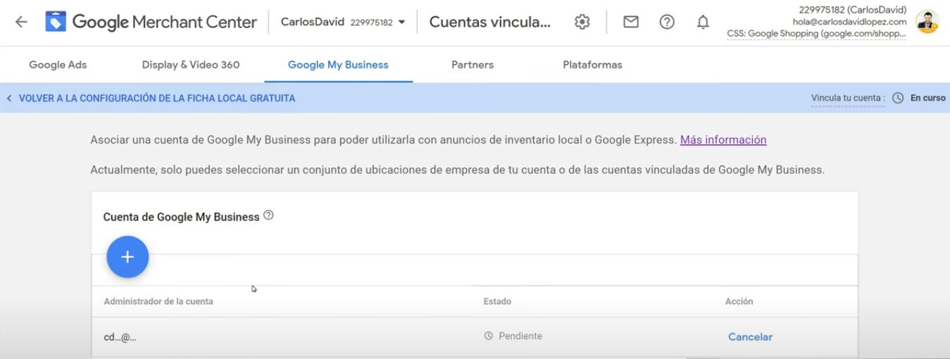 Merchant Center y Google my business